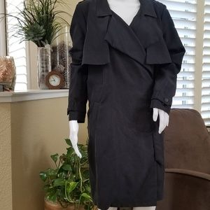 H&M Divided Black Trench Coat